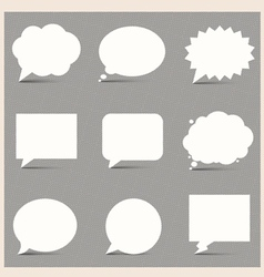 White speech bubbles vector