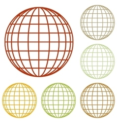 Earth globe sign vector