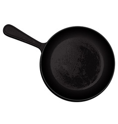 cast-iron frying pan vector image