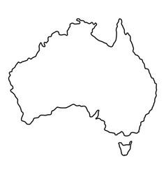 Australia icon outline style vector
