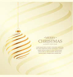 beautiful christmas festival greeting background vector image
