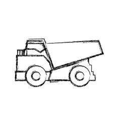 Big dump truck vector