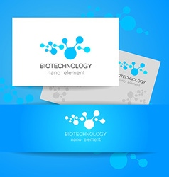 biotechnology logo vector image vector image