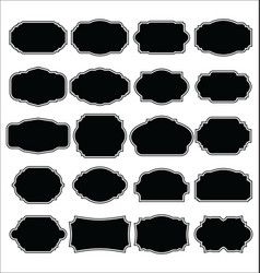 blank black frame and label collection vector image