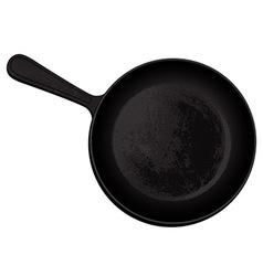 Cast-iron frying pan vector