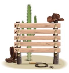 Cowboy Rating Scoreboard vector image vector image