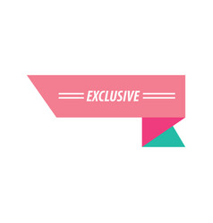 Design ribbon exclusive pink and green vector