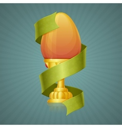 Egg cup with ribbon vector