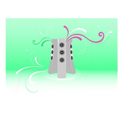 Fresh music abstract background vector