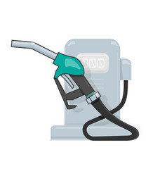 gas station cartoon style for the vector image vector image
