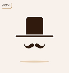 gentleman with a mustache and hat vector image vector image