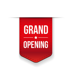 Grand Opening red ribbon vector image vector image