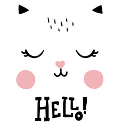 hello cat vector image vector image
