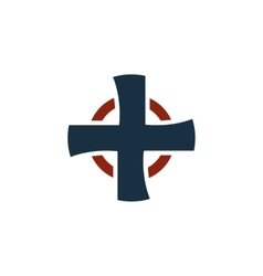 Isolated cross logo religious logotype vector