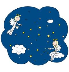 Little angels vector