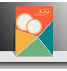 Magazine cover with pieces of colored Paper vector image vector image
