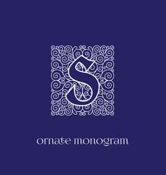 Monogram s vector