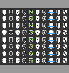 security protection icons set shield icon vector image vector image