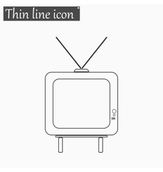 TV icon Style thin line vector image vector image