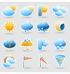 Weather forecast symbols icons set vector
