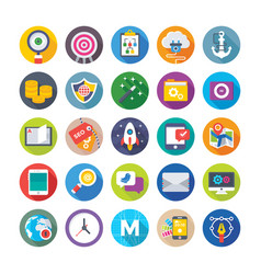 web design and development icons 14 vector image vector image