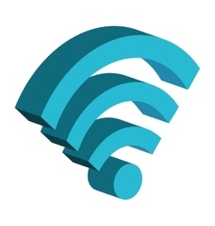 Wifi internet signal isolated icon symbol vector image