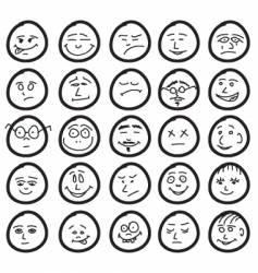 funny hand drawn unique smiles vector image