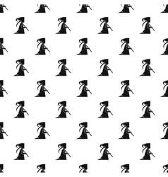 Grim reaper pattern simple style vector image