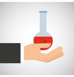 hand holding research container vector image