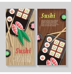 Japanese food web banner japan sushi vector