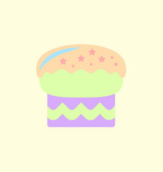 In flat style delicious cake vector