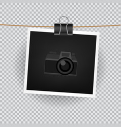 Square photo transparent background vector