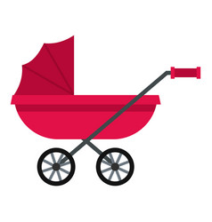pram icon isolated vector image