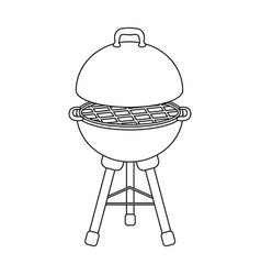 Grill for barbecuebbq single icon in outline vector