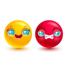 Funny and angry emoji vector