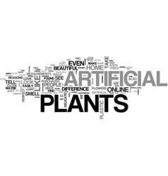Why people like artificial plants text word cloud vector