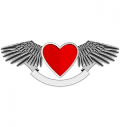 Winged heart logo vector