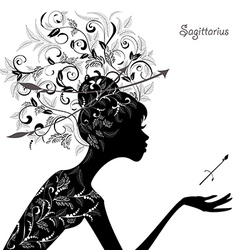 Zodiac sign sagittarius fashion girl vector