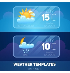 Weather mobile application vector