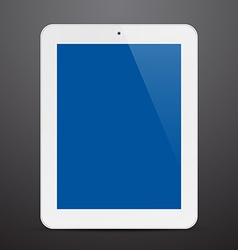 Realistic white tablet pc vector