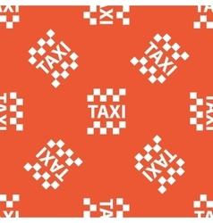 Orange taxi pattern vector