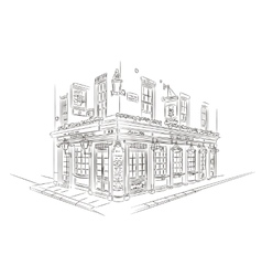 London pub sketch vector