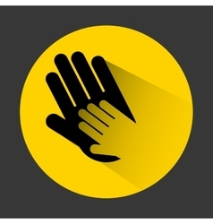 Collaborative hands design vector