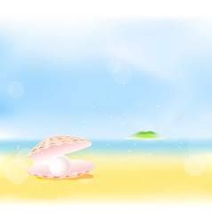Summer beach pearls vector