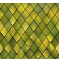 Abstract Yellow Green Rhombus Mosaic Seamless vector image vector image