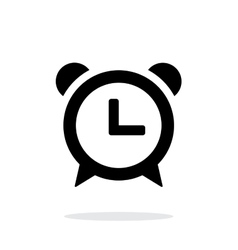 Alarm clock icon on white background vector image vector image