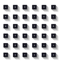alphabet keyboard vector image