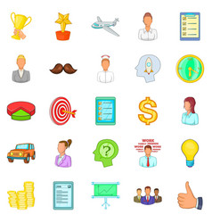 Banker icons set cartoon style vector
