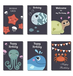 Birthday cards vector