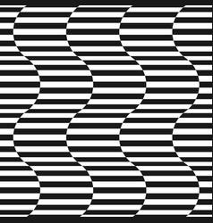 black and white stripes seamless pattern vector image vector image